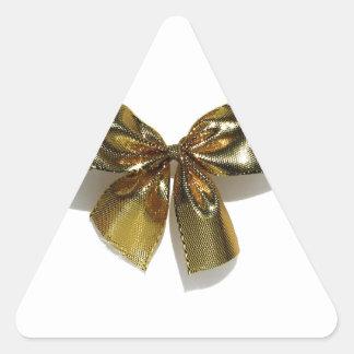 Gold Bow Triangle Sticker