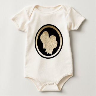 GOLD BOXING GLOVES BABY BODYSUIT