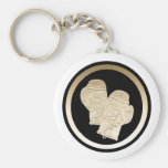 GOLD BOXING GLOVES KEYCHAINS