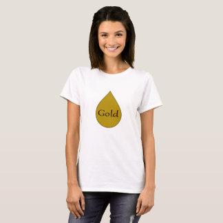Gold breastfeeding 1 year award womens tshirt