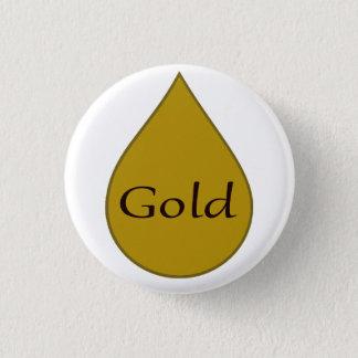 Gold breastfeeding award badge. 1 year 3 cm round badge