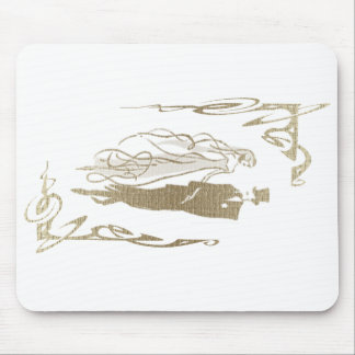 Gold Bride and Groom Wedding Art Mouse Mat