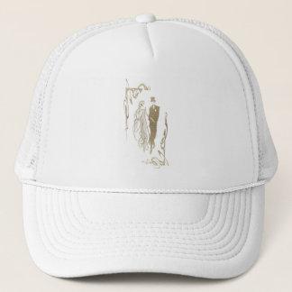 Gold Bride and Groom Wedding Art Trucker Hat