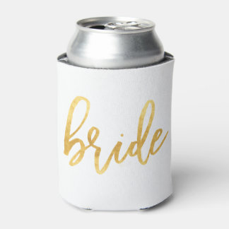 Gold Bride Can Cooler
