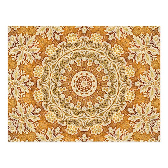 Gold Brocade 2 Postcard