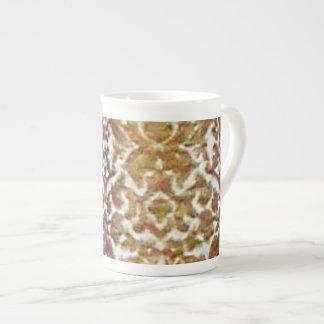Gold Brocade Bone China Mug