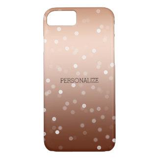 Gold Bronze and White Bokeh Confetti iPhone 7 Case