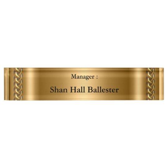 Gold Bronze Chain Image Add Name Nameplates