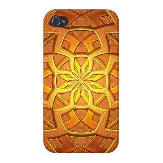 Gold Bronze Geometric Digital Art iPhone 4/4S Covers
