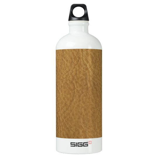 Gold Bronze Leather Texture Water Bottle