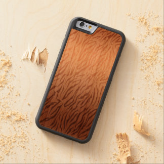 Gold Bronze Ombre Tiger Print Carved® Cherry iPhone 6 Bumper Case