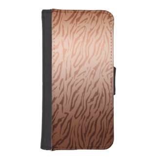 Gold Bronze Ombre Tiger Print Phone Wallets