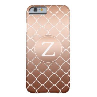 Gold Bronze Quatrefoil Monogram Barely There iPhone 6 Case