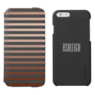Gold Bronze Stripes Ombre Incipio Watson™ iPhone 6 Wallet Case
