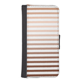 Gold Bronze Stripes Ombre iPhone 5 Wallets