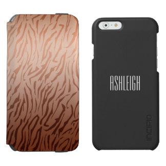 Gold Bronze Tiger Print Incipio Watson™ iPhone 6 Wallet Case