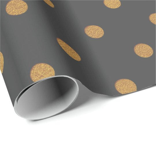 Gold Brown Maroon Metallic Small Polka Dots Wrapping