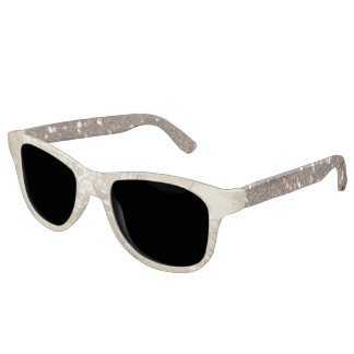Gold Brown Music Notes Two Tone Faux Glitter Sunglasses