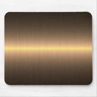 gold brushed metal mouse mat