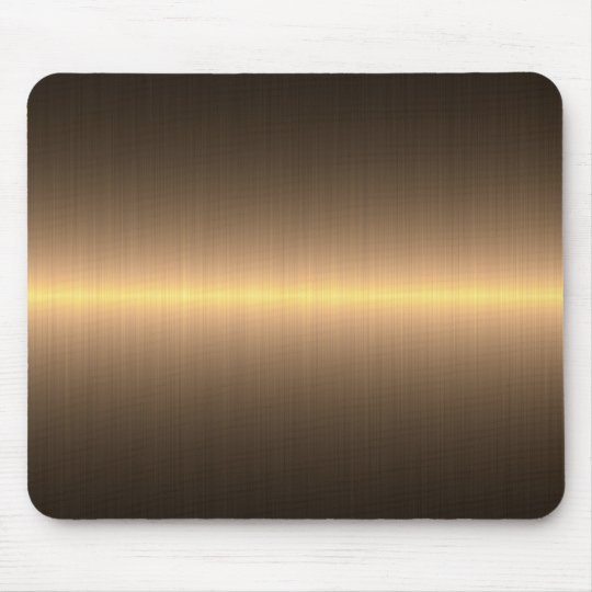 gold brushed metal mouse mat
