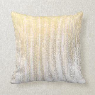 Gold Brushstroke Rain Waterfall Dot Pillow