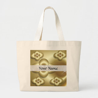 gold bubbles large tote bag