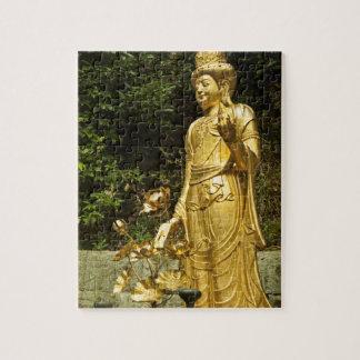 Gold Buddha  Ākāśagarbha  Bodhisattva  Akasagarbha Jigsaw Puzzle