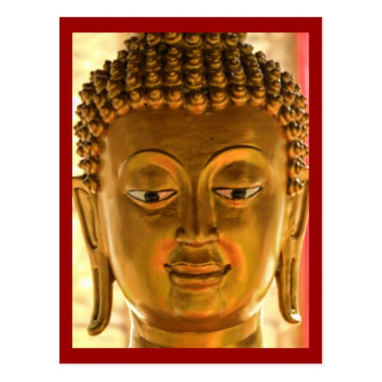 Gold Buddha Head Postcard