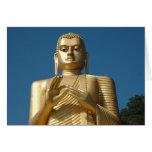Gold Buddha Image Greeting Card