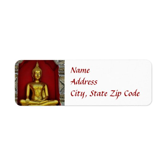 Gold Buddha Label