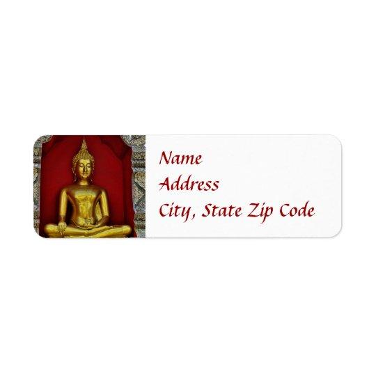 Gold Buddha Label Return Address Label