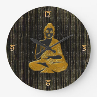 gold Buddha Large Clock
