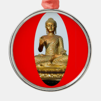 Gold Buddha & Sacred Red by SHARLES Christmas Ornament