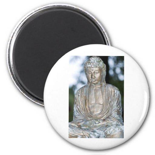 Gold Buddha Statue Refrigerator Magnets