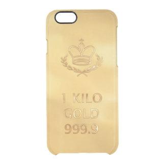 Gold Bullion Bar Clear iPhone 6/6S Case