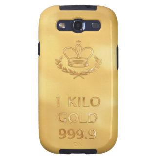 Gold Bullion Bar Print Samsung Galaxy SIII Cover