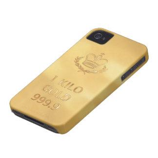 Gold Bullion Bar Print iPhone 4 Case