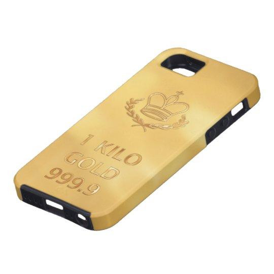 Gold Bullion Bar Print iPhone 5 Case