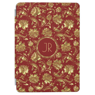 Gold & Burgundy Floral Damasks iPad Air Cover