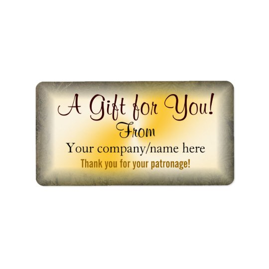 Gold Business Gift Labels