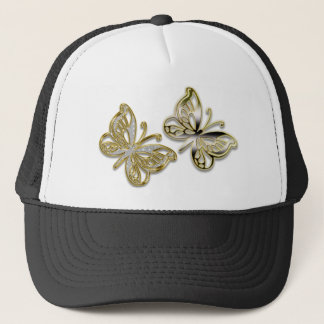gold butterflies trucker hat