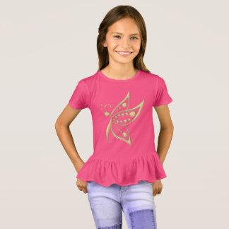 Gold Butterfly Dots T-Shirt