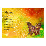 GOLD BUTTERFLY IN YELLOW GREEN RED BROWN SPARKLES PACK OF CHUBBY BUSINESS CARDS