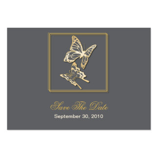 Gold Butterfly Save The Date Wedding MiniCard Pack Of Chubby Business Cards