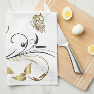 Gold Butterfly Tattoo Art American MoJo Kitchen To Kitchen Towels