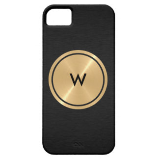 Gold Button and Black Stainless Steel Metal Case For The iPhone 5
