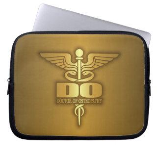 Gold Caduceus (DO) Laptop Sleeve