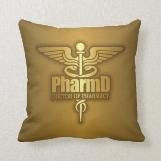 Gold Caduceus (PharmD) Cushion