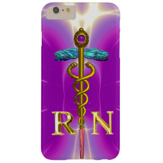 GOLD CADUCEUS REGISTERED NURSE SYMBOL Pink Fuchsia Barely There iPhone 6 Plus Case