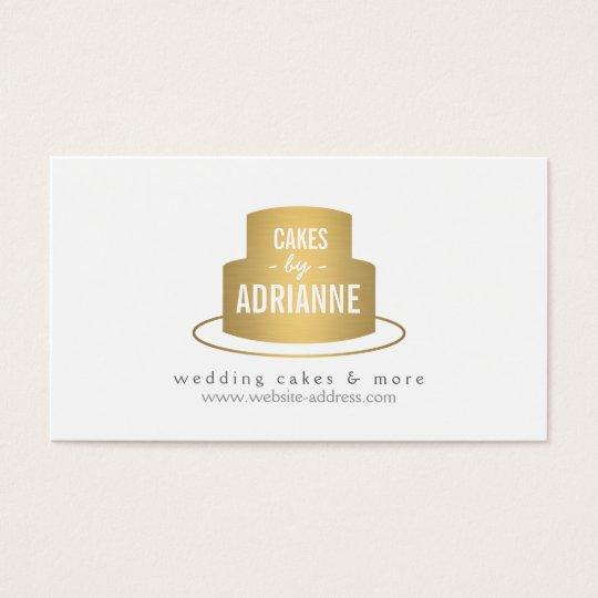 Gold Cake Logo I for Bakery, Cafe, Chef